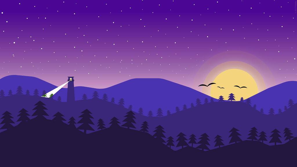 Purple Sky by palshu on DeviantArt