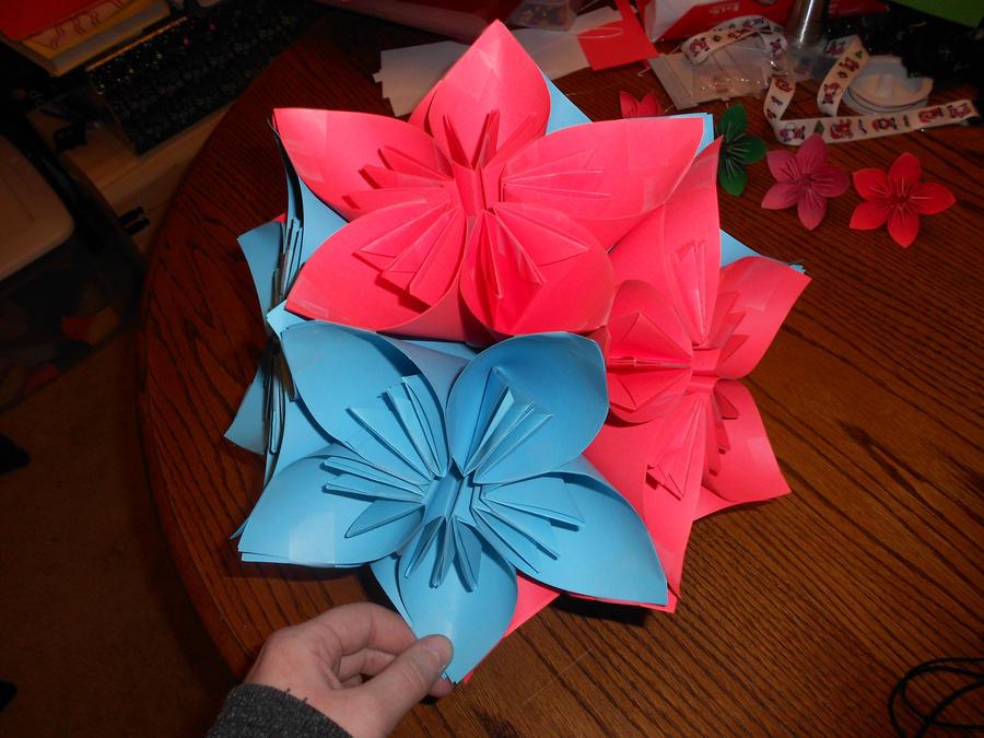 Origami flower ball 2 by rengiruki on deviantart origami flower ball 2 by rengiruki mightylinksfo