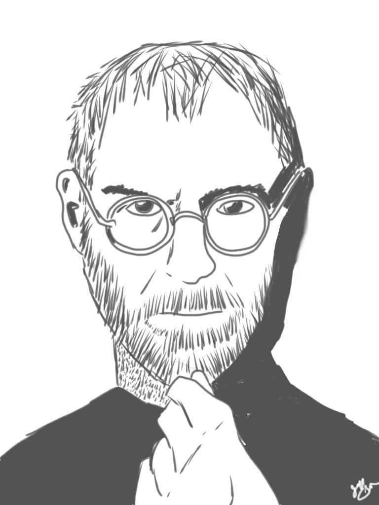 Steve Jobs from an iPad