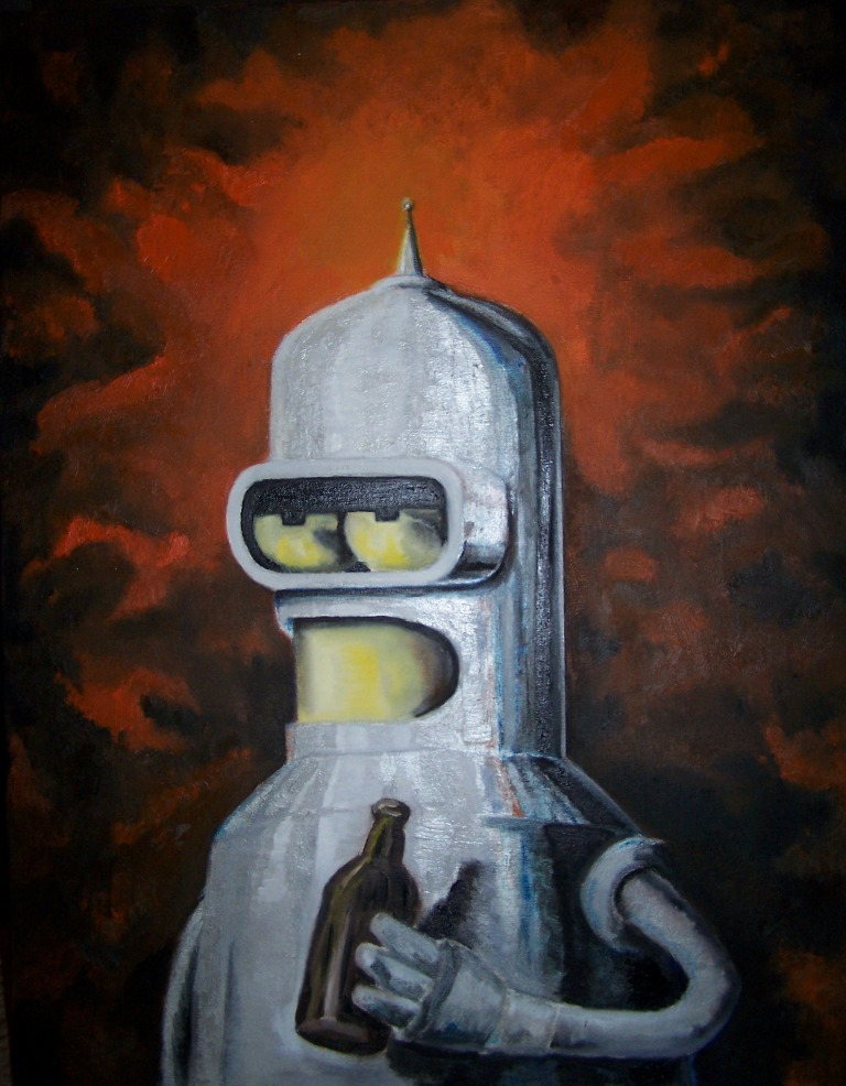 Bender from Futurama by Fruksion