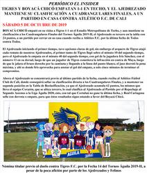 BOYACA CHICO F.C. - PRESS LETTER 05-10-2019