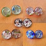 Small Glass Stud Earrings