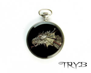 Dragon of watch parts - medallion