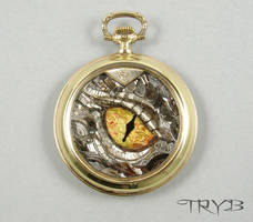 Smaug eye sculpture in medallion by TRYBcomPL