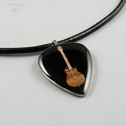 Guitar Pick necklace - finished