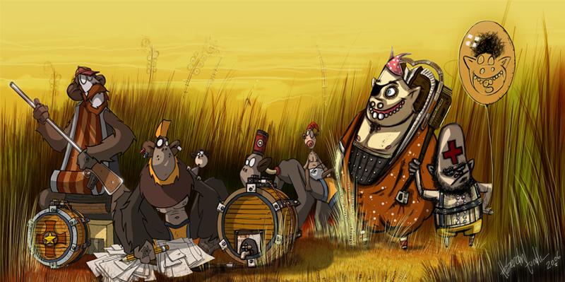 Monkeys by sercantunali