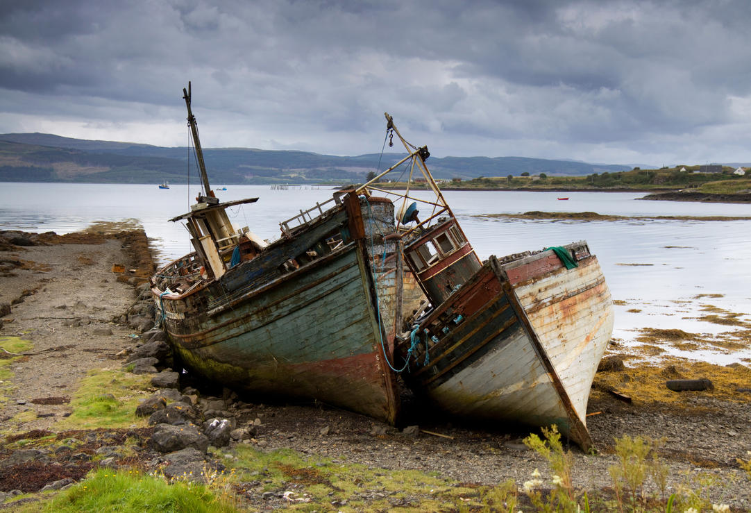 Old boats isle of mull by damiankane on deviantart for What to do with an old boat