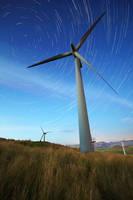 Wind Turbine Star Trail