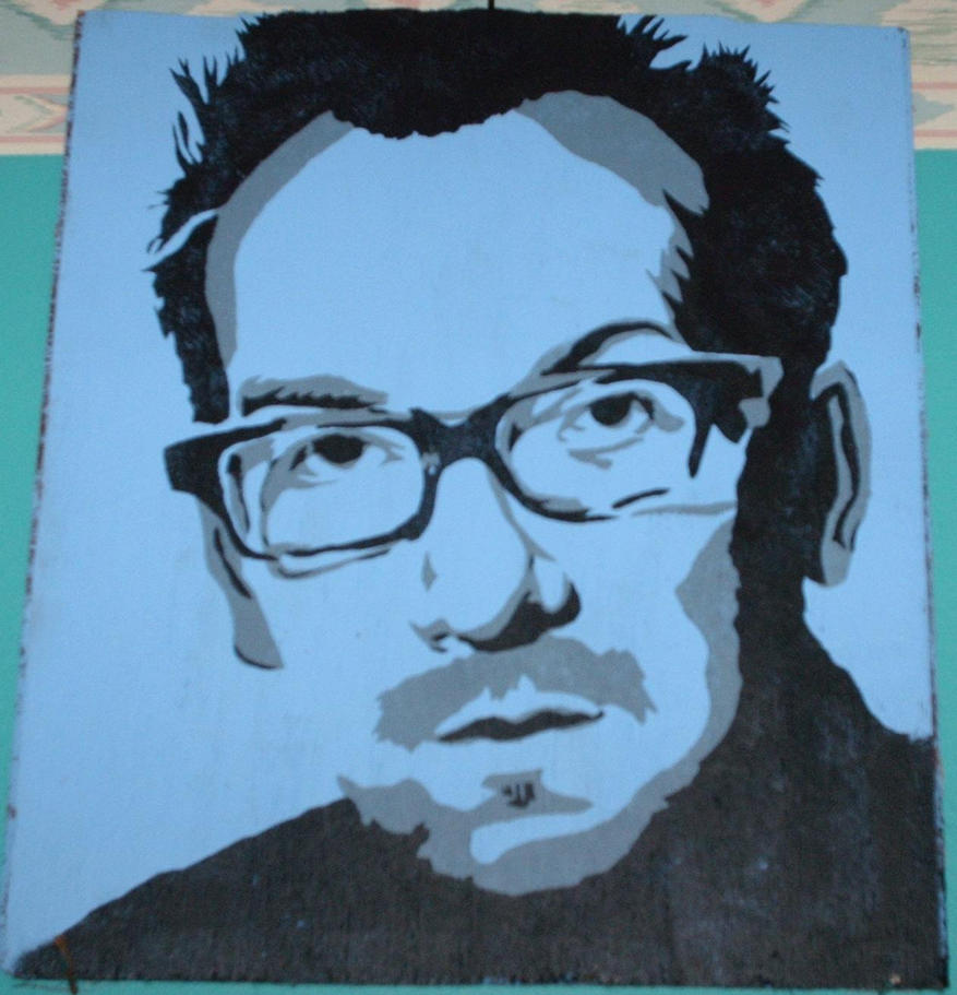 Elvis Costello by EdwardAbbieyHoffman