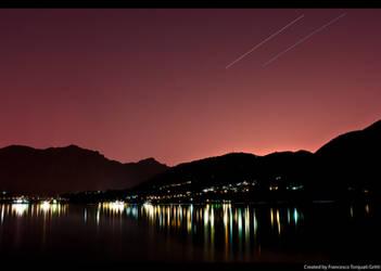 night on lake