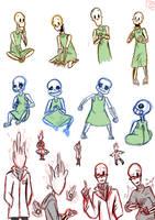 Zarla's Handplates skele sketches by PierreREDmoon