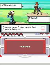 Layton and Luke in Pokemon BW