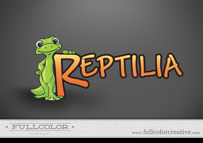 Reptilia Pet Store Logo by FullcolorCreative