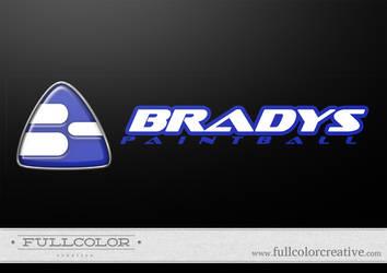 Bradys Paintball Logo by FullcolorCreative