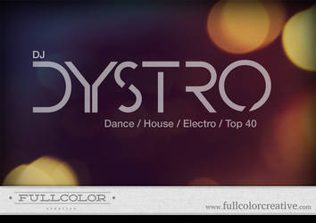 DJ DYSTRO Logo by FullcolorCreative