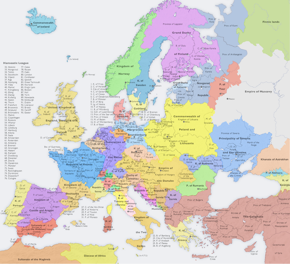 change in europe 1400 s to 1700 s The history of english  forces for change and the spread of literacy, 1300-1400  james i's successor monarchs in the male line,.