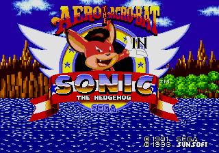 Aero the Acro-Bat In Sonic the Hedgehog by MrSmithsonian93