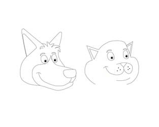 Police Dog And Cat: Sam And Bart (Line) by MrSmithsonian93