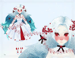 [Adoptable open] January snow by susapirog