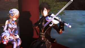 [MMD Genshin] Heart of Courage (Link to Video)