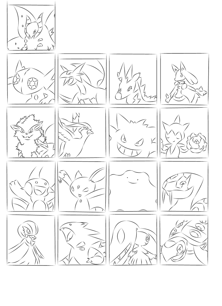 Line Art Meme : Pokemon meme line art by pantherofthenight on deviantart