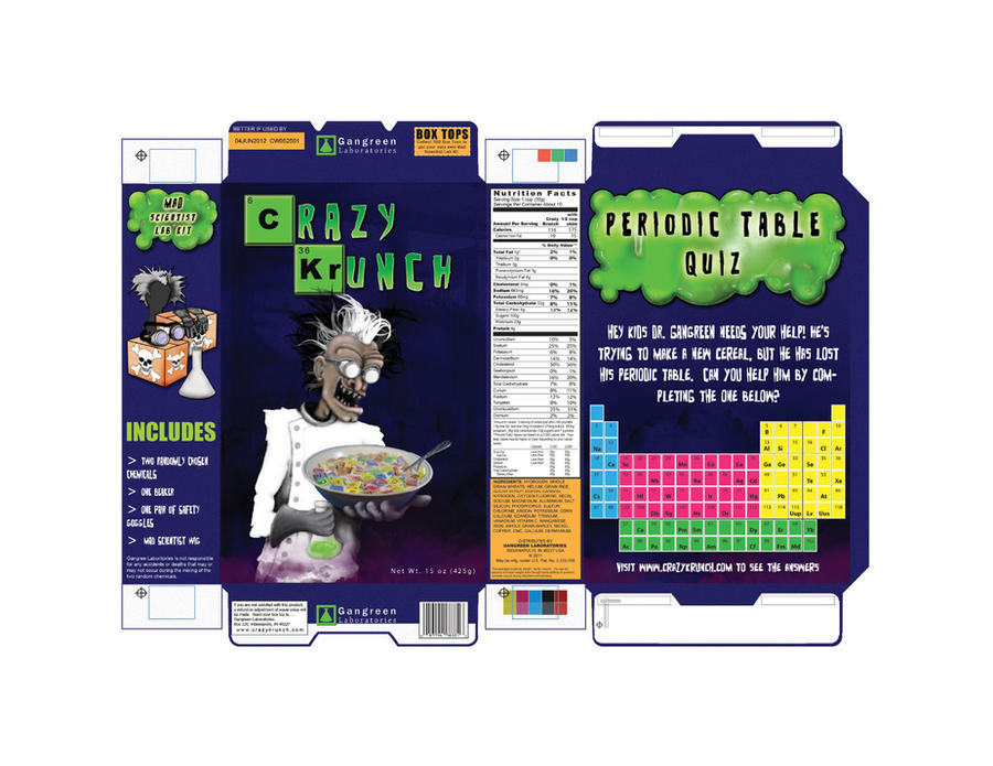 Cereal box design by dchism on deviantart for Design your own cereal box template
