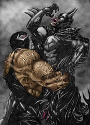 Batman vs. Bane by KateColorArt
