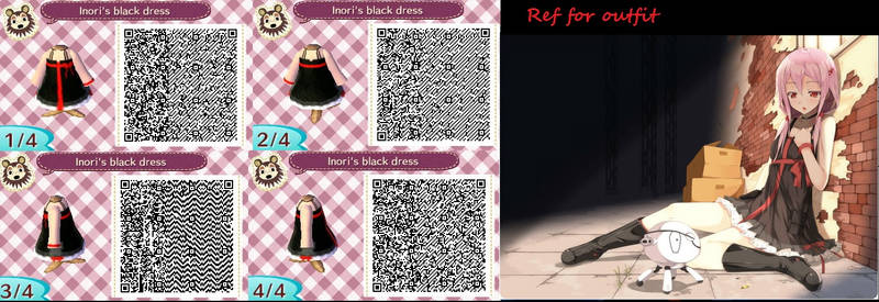 Animal Crossing Black Dress Without Bag