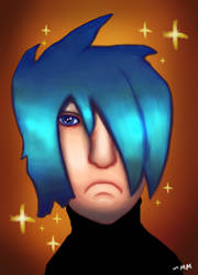 Blue Hair Guy - Drawing by TheUnHolyDarkth