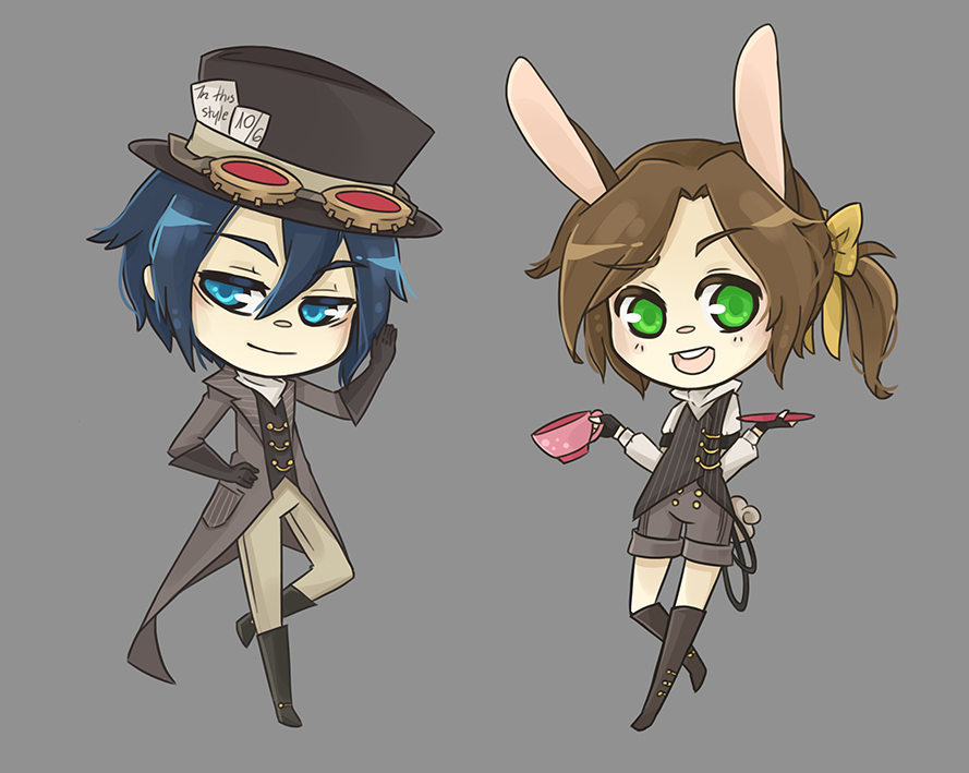 Mad Hatter and March Hare steampunk version by Alathriel