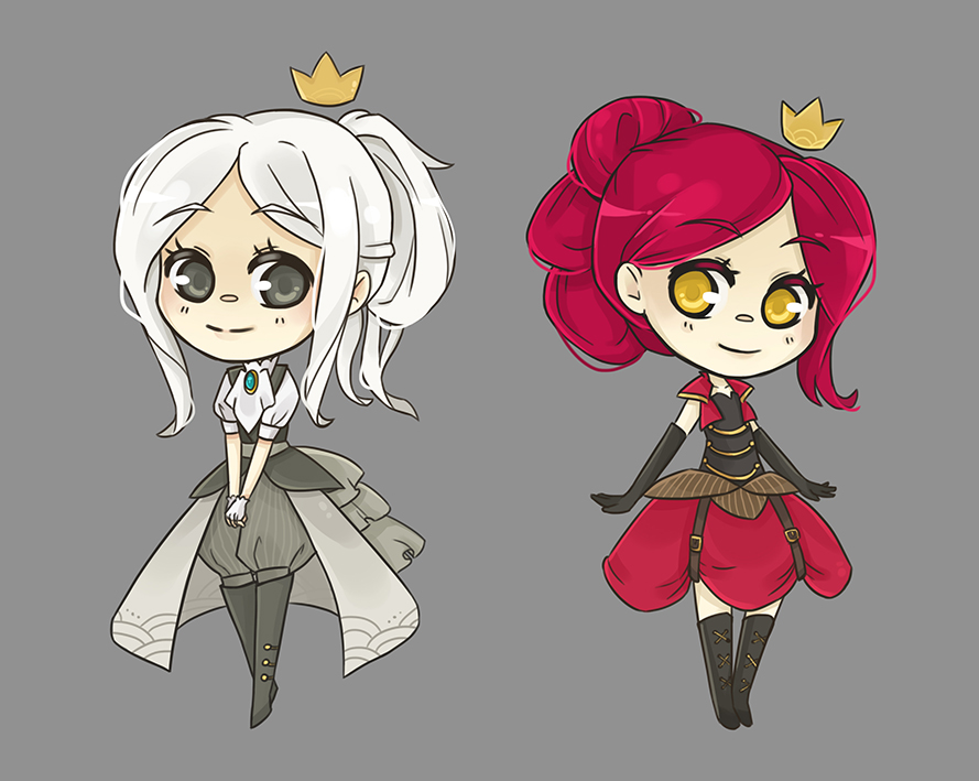 White and Red Queen steampunk version by Alathriel