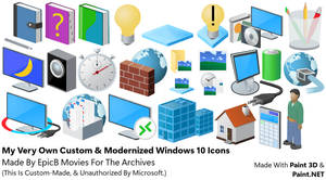 My Very Own Custom And Modernized Windows 10 Icons
