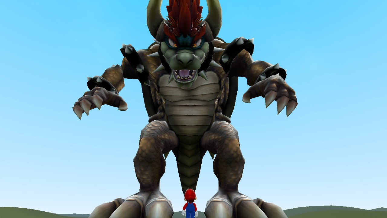 Mario vs Giga Bowser by TheDandyScout900 on DeviantArt