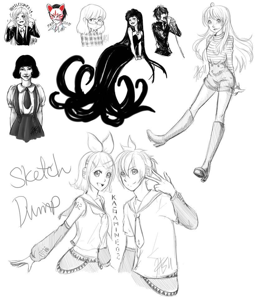 Another Sketchdump by kasuouhhitachiin