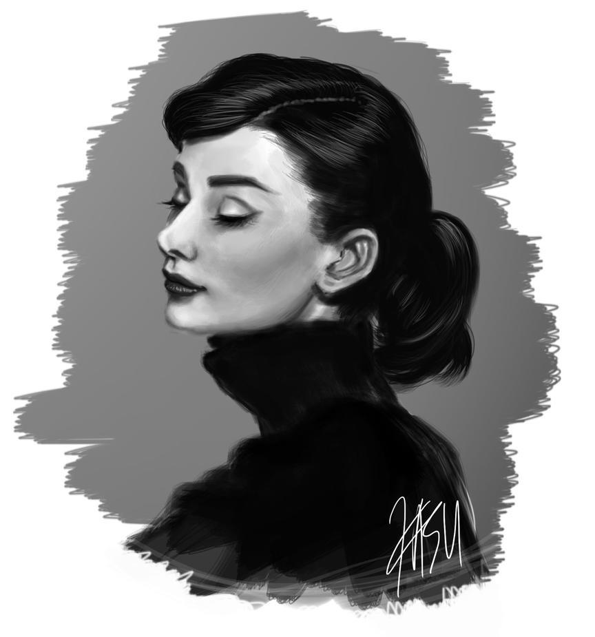 Audrey Hepburn Speed Paint by kasuouhhitachiin