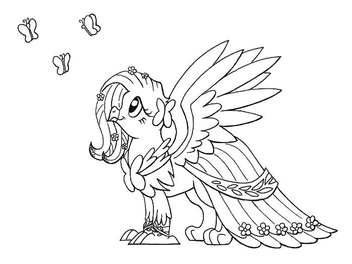 Griffon Fluttershy by Sovwi