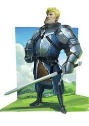 Medieval knight stylized - Procreate Ipad Pro