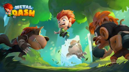 Game Splash Art - Metal Dash
