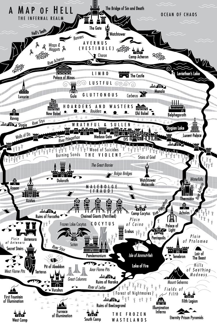 Map of Hell by jtillustration on DeviantArt