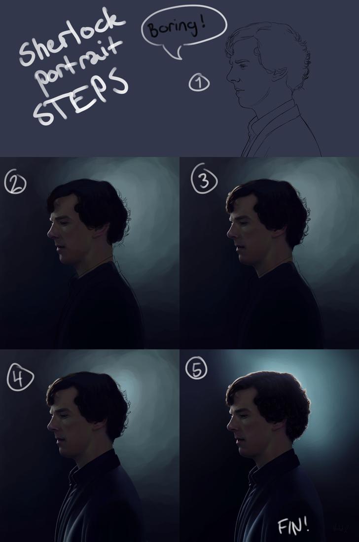 12 Sherlock profile - steps by harbek