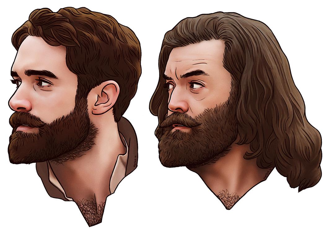 16 Galavant beard bros by harbek