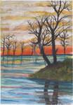 Sunset Trees 001