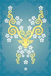 The Oriental Golden Deer by verreaux
