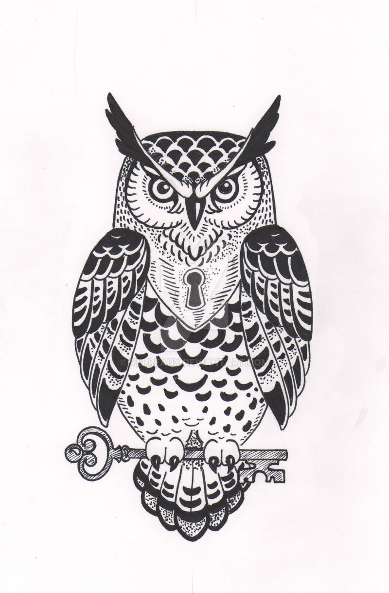 Pictures Of Black And White Owl Design Kidskunstinfo