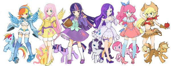 My Little pony human by Nice123456