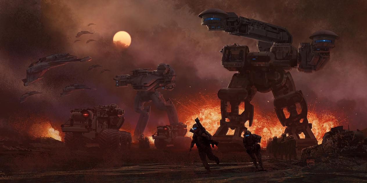 Future War by steve-burg