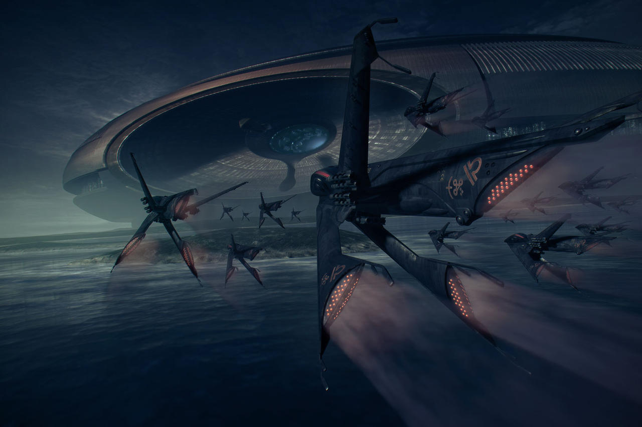 Arcology: Nightfall by steve-burg