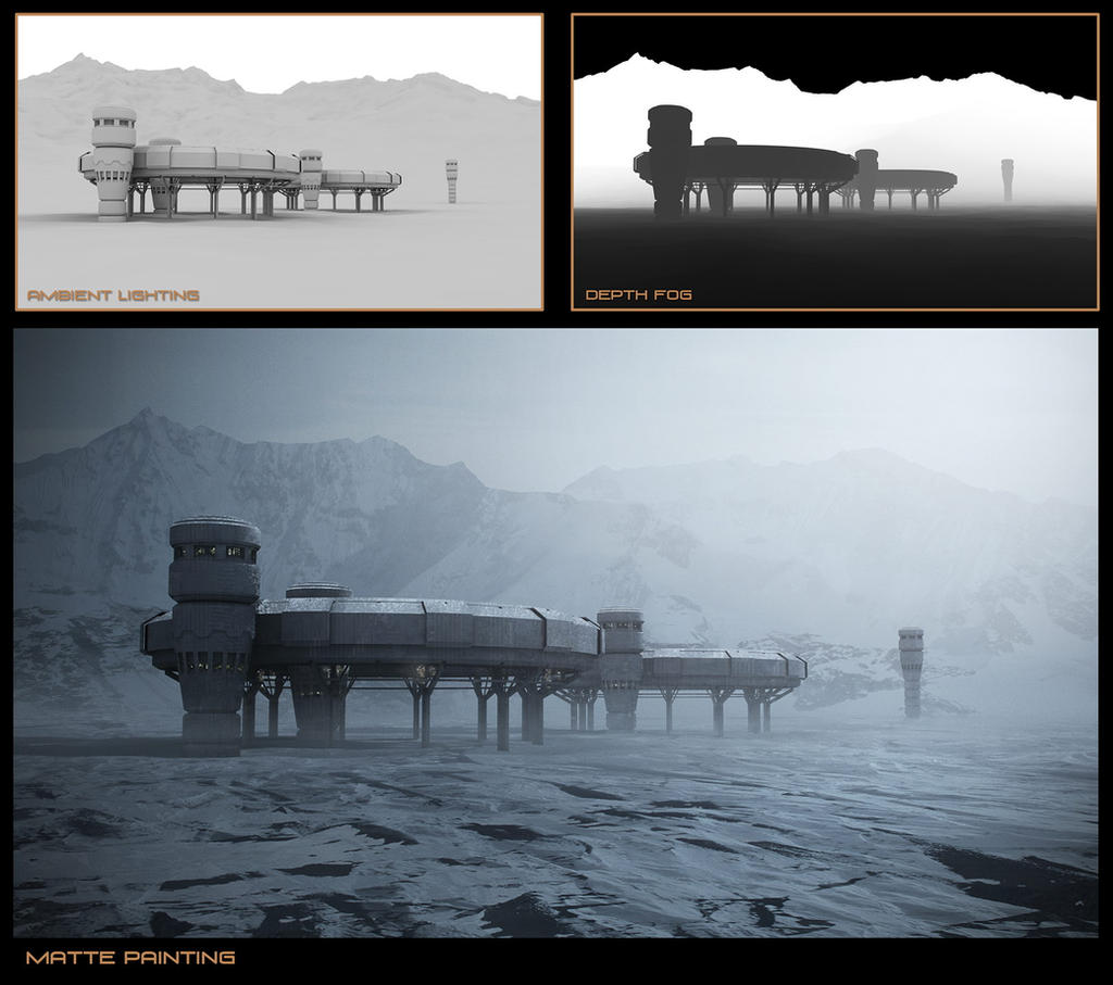Snow Matte Painting Process by steve-burg