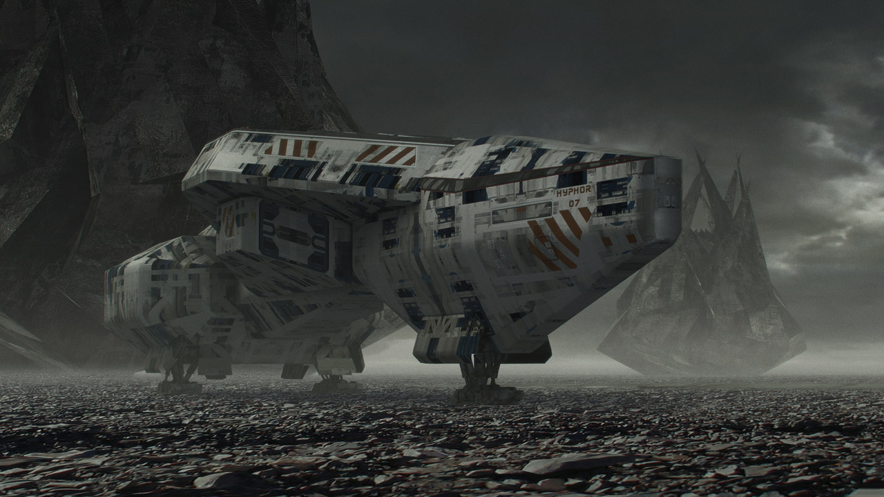 Ziggurat 3d matte painting by steve burg on deviantart for Space matte painting