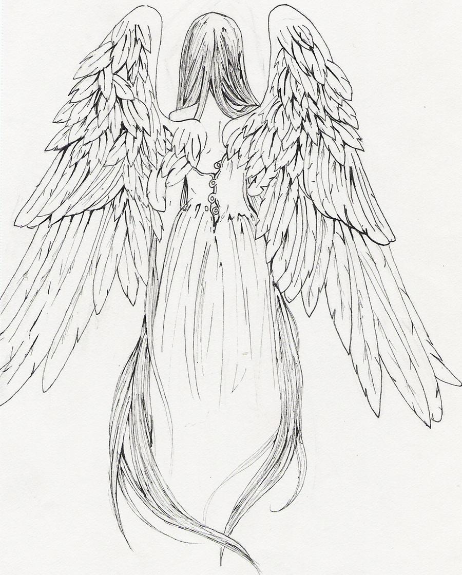angel tattoo by ten te...
